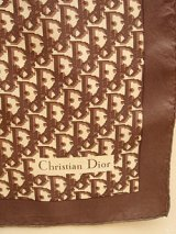 """Dior"" brown monogram scarf"