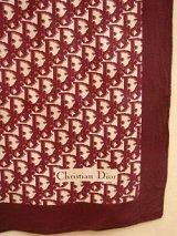 """Dior"" burgundy monogram scarf"