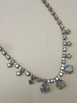 rhinestone blue necklace