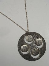 """ROLF BUODD"" pewter necklace"