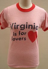 """Virginia"" red ringer T-shirt"