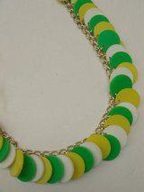 green,yellow,white plastic necklace
