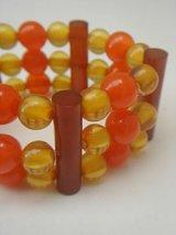 orange & yellow beads bracelet