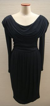 80's black drape dress