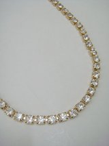 """TRIFARI"" rhinestone necklace"