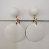 """TRIFARI"" white earring"