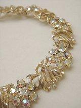 aurora rhinestone flower bracelet