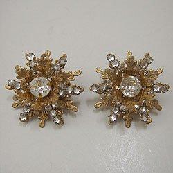 """画像1: """"MIRIAM HASKELL"""" gold color earring"""