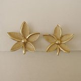 """TRIFARI"" gold flower earring"