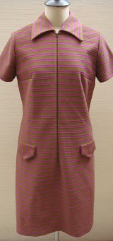 brown & purple border dress