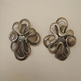 silver design earring