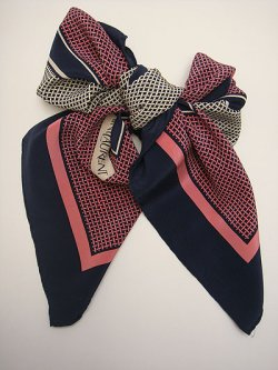 "画像3: ""Yves Saint Laurent"" pink & navy scarf"