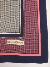 """Yves Saint Laurent"" pink & navy scarf"