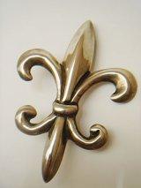 fleur-de-lis silver brooch