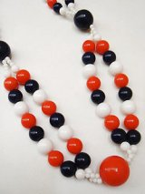 tricolore beads necklace