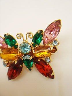 画像1: colorful butterfly small brooch