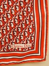 """Dior"" red monogram scarf"