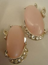 """KRAMER"" pink/rhinestone earring"