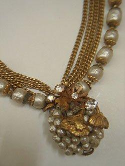 """画像1: """"DeMario NY"""" pearl necklace"""