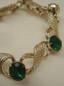 画像1: green/gold bracelet