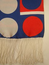 tricolore fringe long scarf