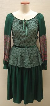 dark green paisley dress