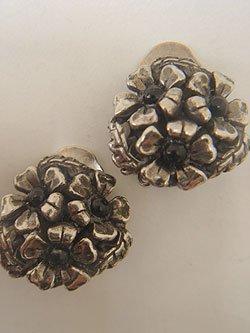 画像1: silver plate flower earring