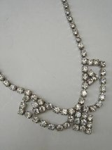 rhinestone design necklace