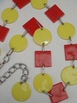 red/yellow plastic chain belt