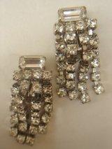 rhinestone fringe earring