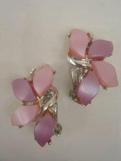 画像1: pink & purple earring