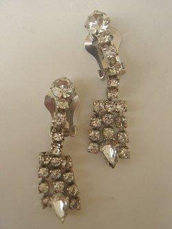 画像1: rhinestone earring
