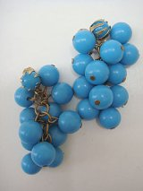turquoise beads earring