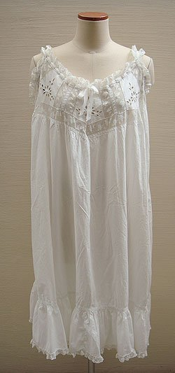 画像1: antique lace cotton dress