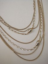 gold long necklace