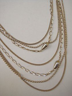 画像1: gold long necklace