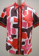 """""""Vera"""" red graphical shirt"""