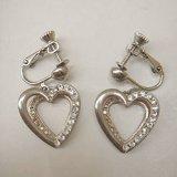 rhinestone heart earring
