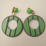 green hoop earring