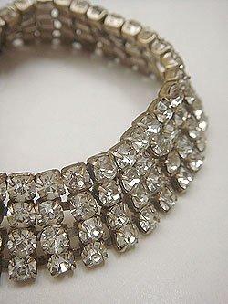 画像1: rhinestone bracelet