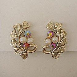 """画像1: """"Coro"""" pearl & leaf earring"""