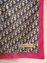 """""""Dior"""" navy & pink scarf"""