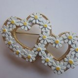 two hearts brooch