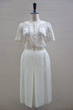 "画像1: ""paco rabanne"" lace dress"