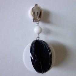 画像4: 1960's monotone circle earring