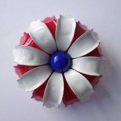 画像1: tricolore flower brooch