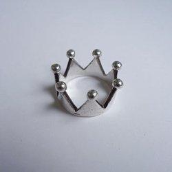 画像1: crown silver ring