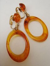 amber color earring