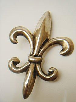 画像1: fleur-de-lis silver brooch
